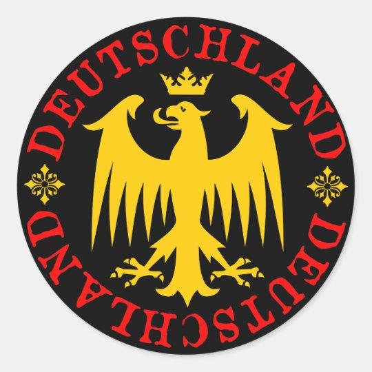 Deutschland German Eagle Emblem Classic Round Sticker   Zazzle.co.uk