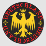 Deutschland German Eagle Emblem Round Sticker