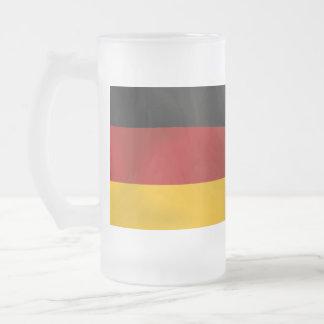 Deutschland Germany Bundesflagge Flag Frosted Glass Mug