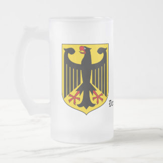 Deutschland Germany Coat of Arms Frosted Glass Mug