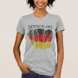 Deutschland Germany Flag Shirt Ladies Petite