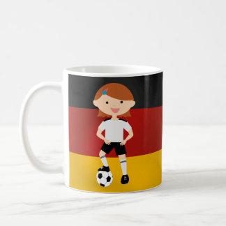 Deutschland Germany Fußball Mädchen 3 Basic White Mug