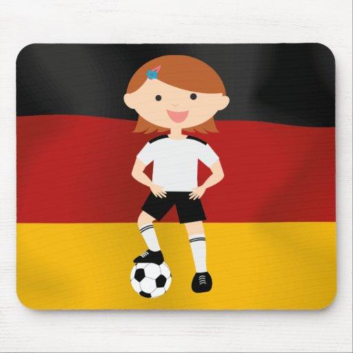 Deutschland Germany Fußball Mädchen 3 Mouse Pads