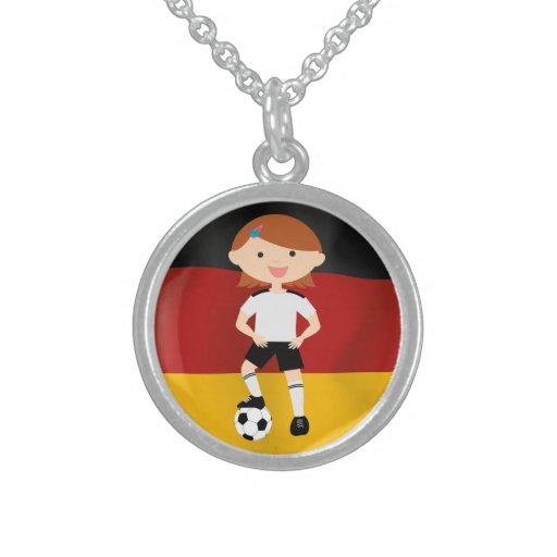 Deutschland Germany Fußball Mädchen 3 Pendants