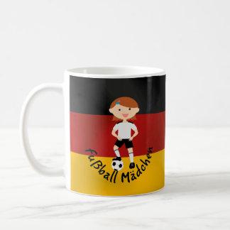 Deutschland Germany Fußball Mädchen 3 v2 Basic White Mug