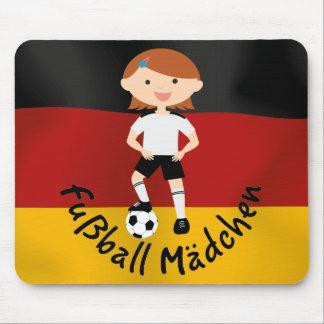 Deutschland Germany Fußball Mädchen 3 v2 Mousepad