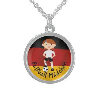Deutschland Germany Fußball Mädchen 3 v2 Necklace
