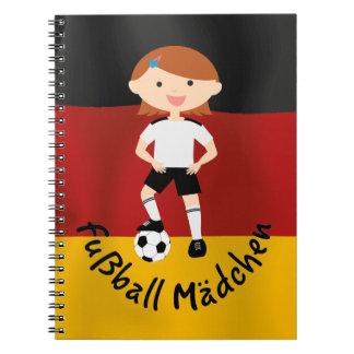 Deutschland Germany Fußball Mädchen 3 v2 Notebook