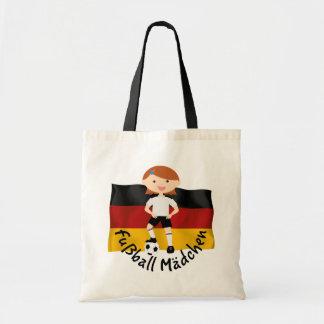Deutschland Germany Fußball Mädchen 3 v2 Budget Tote Bag