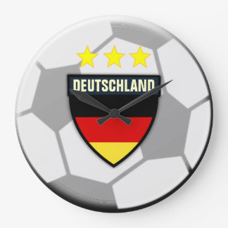 Deutschland Germany Soccer Ball Clock
