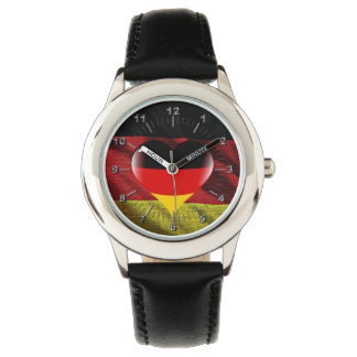 Deutschland heart flag watch