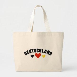 Deutschland Hearts Large Tote Bag