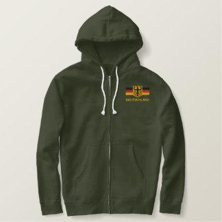 DEUTSCHLAND Mens Embroidered zip hoodie