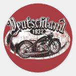 Deutschland Motowear Round Sticker