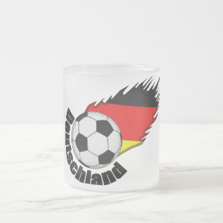 deutschland 10 oz frosted glass coffee mug