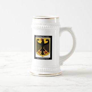 DEUTSCHLAND OKTOBERFEST GERMAN COAT OF ARMS PRINT BEER STEIN