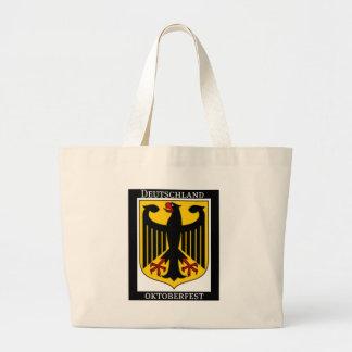 DEUTSCHLAND OKTOBERFEST GERMAN COAT OF ARMS PRINT LARGE TOTE BAG