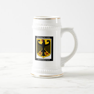 DEUTSCHLAND OKTOBERFEST GERMAN COAT OF ARMS PRINT 18 OZ BEER STEIN