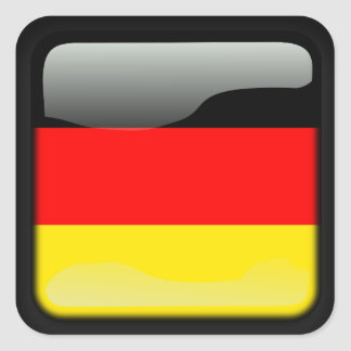 Deutschland polished square sticker