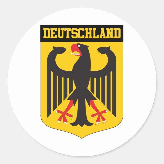 Deutschland Round Sticker