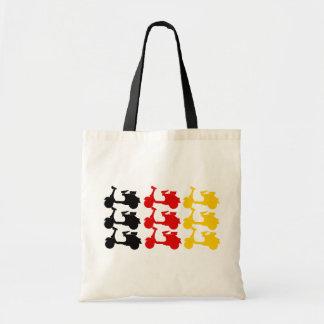Deutschland Scooter flag Budget Tote Bag