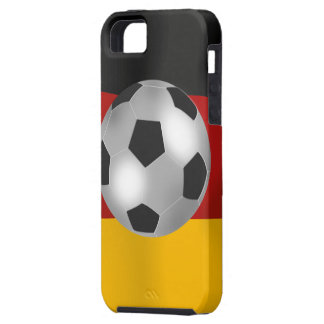 Deutschland Silver Metallic effect Soccer Ball iPhone 5 Case