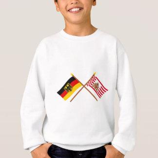 Deutschland und Bremen Flaggen, gekreuzt Sweatshirt