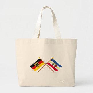 Deutschland und Mecklenburg-Vorpommern Flaggen Jumbo Tote Bag