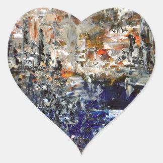 Deux Villes Heart Sticker