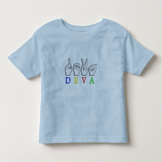 DEVA  ASL FINGER SPELLED TODDLER T-Shirt