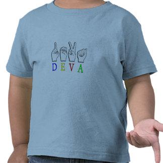 DEVA  ASL FINGER SPELLED T-SHIRTS