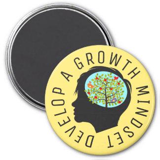 "Develop A Growth Mindset Education Reform  3"" Magnet"
