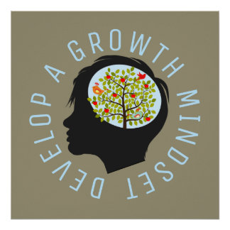 Develop A Growth Mindset Education Reform Poster