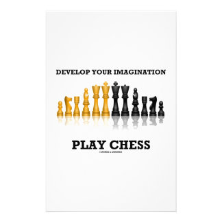 Develop Your Imagination Play Chess Personalised Stationery