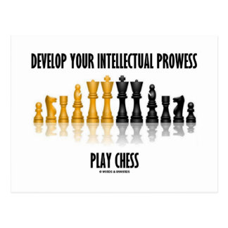 Develop Your Intellectual Prowess Play Chess Postcard