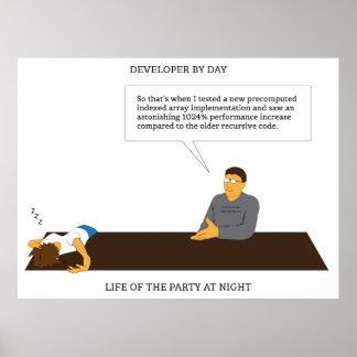 Developer Party Poster