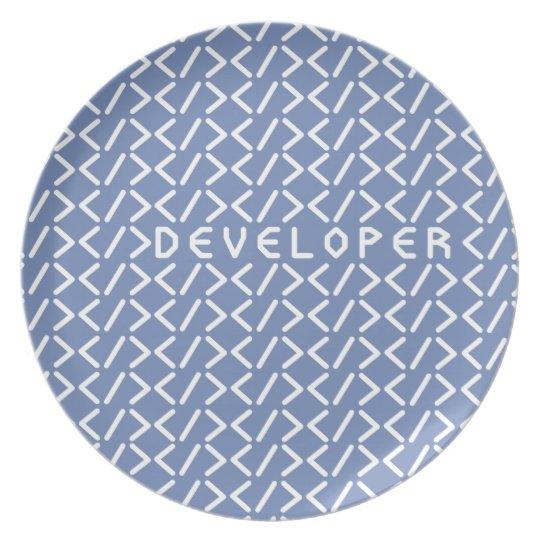 Developer (+white/p) plate
