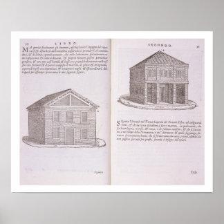 Development of Housing, from 'Della Architettura', Poster