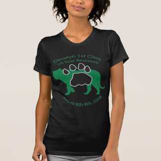 Develyn Class of 98 10 Year Reunion Ladies Black T-Shirt