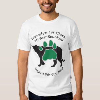 Develyn Class of 98 10 Year Reunion Mens Green Tee Shirts