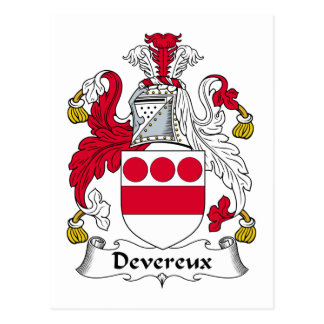 Devereux Family Crest Postcard