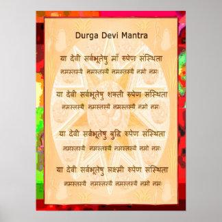 Devi Mantra Popular Quick Script Poster