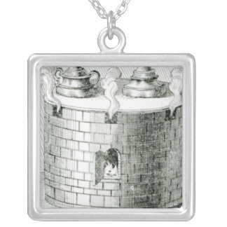 Devices for Keeping Water and Food Warm on Silver Plated Necklace