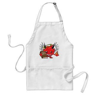 devil / angel smiley face standard apron