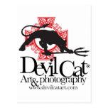 Devil Cat Art Post Cards