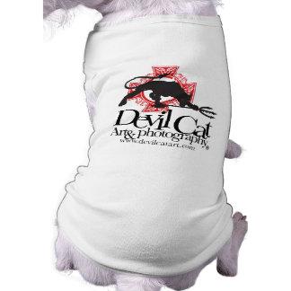 Devil Cat Art Pups Shirt