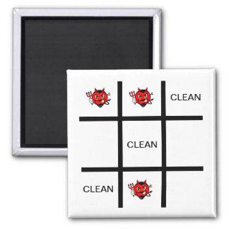 Devil Clean Tic Tac Toe Dishwasher Magnet