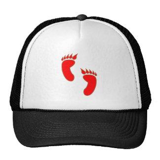 Devil demon foot casting devil demon foot print trucker hats