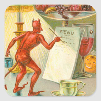 Devil Demon Fruit Lamp Menu Square Sticker