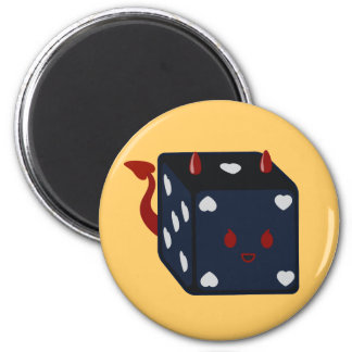 Devil Dice with Hearts 6 Cm Round Magnet
